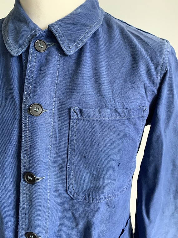 French 1950's Workwear Jacket, Size M, Vintage Cho