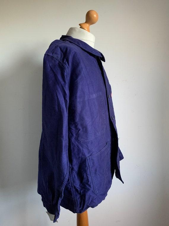 French Workwear, Size L, Vintage 1970's Chore Coa… - image 3