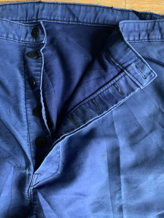 Vintage French workwear trousers , Size W40, LK32 - image 2