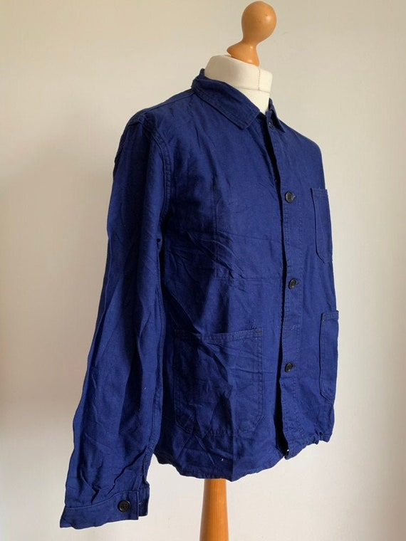 Vintage 1960's Chore Coat, French Workwear, Size L