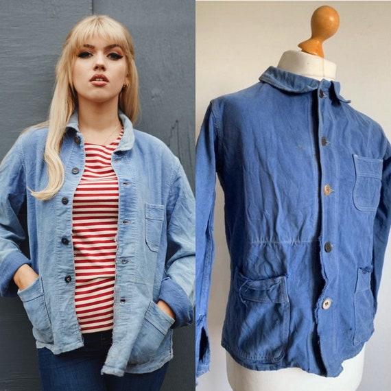 French 1950's Workwear Jacket, Size M, Vintage Fad