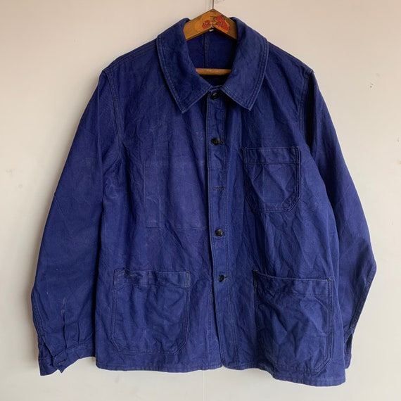 French 1960's Workwear Jacket, Size L, Vintage Cho