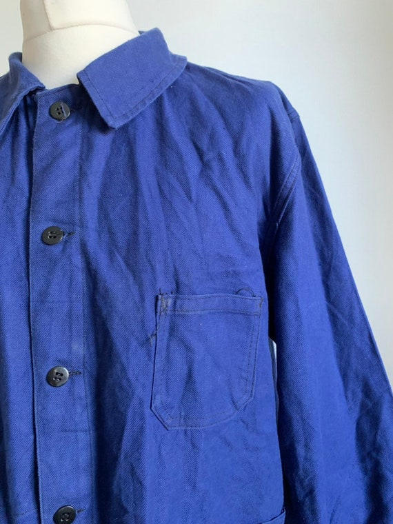 French Workwear Jacket, Size L, Vintage 1960's Cho