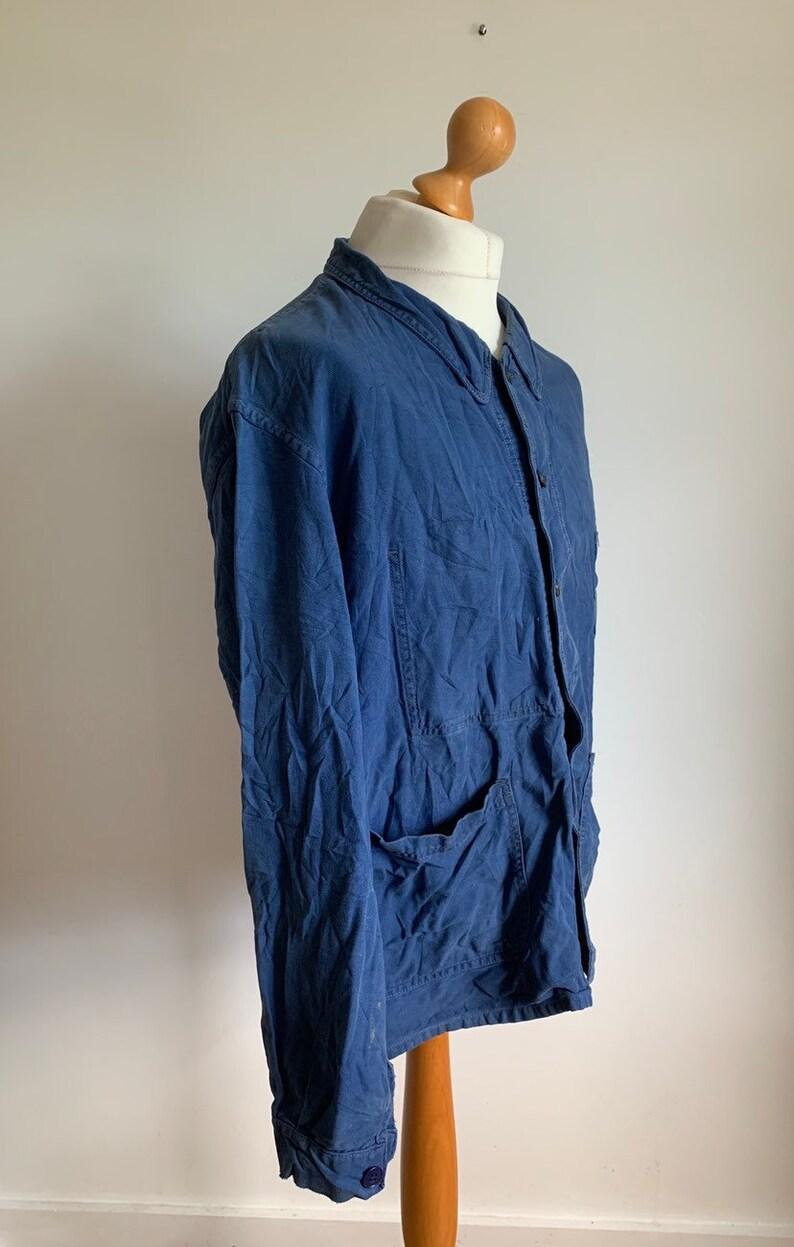 Vintage Work Coat FJ21 Size L French Work-wear 1960/'S