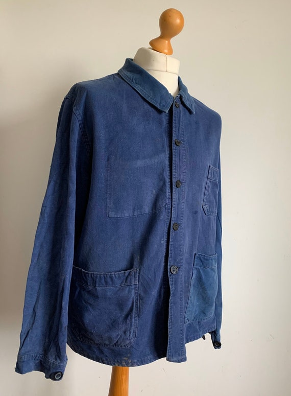 French Blue Workwear, Size L, 1950's Vintage Chore