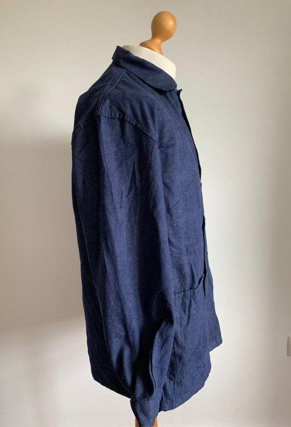 French Workwear, Size L, Vintage Chore Coat, J30 - image 2
