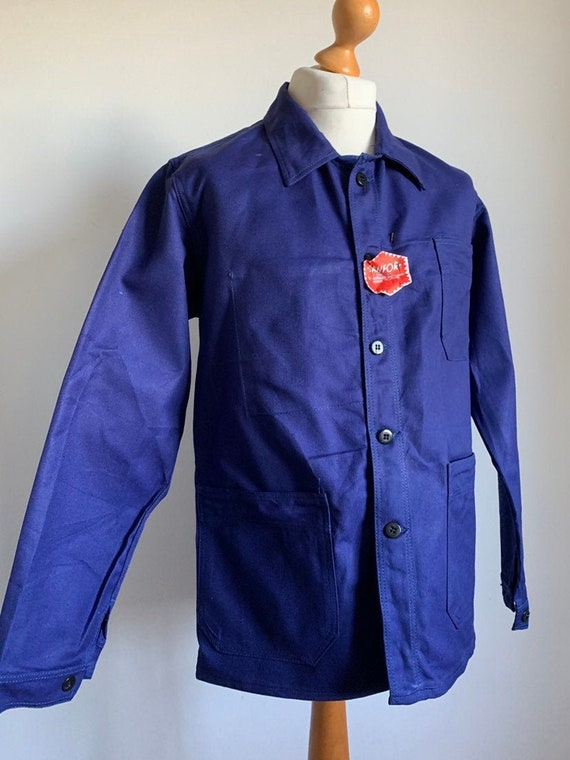 Vintage French Chore Coat, Size L, Dead-StockBlue