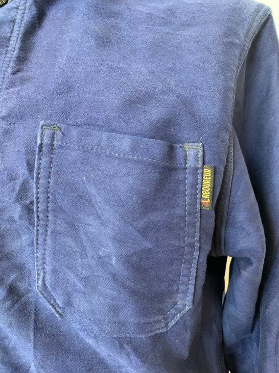 French Moleskin Workwear Jacket, Size M, Vintage … - image 8