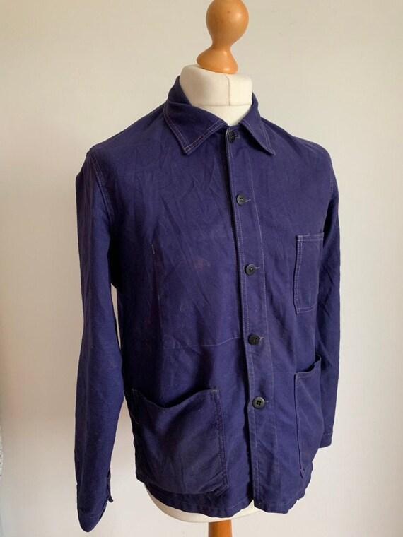 French 1950's Workwear, SizeM/L, Vintage Work Coat