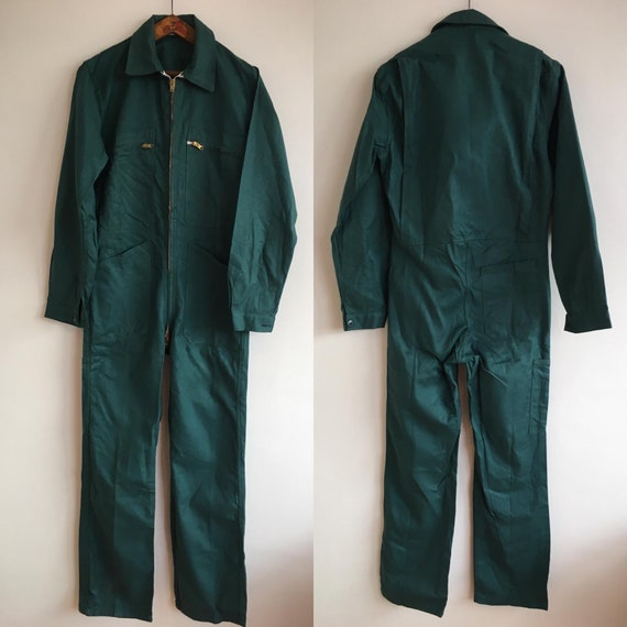 French Vintage Jumpsuit, Size M, Dead-stock, Green