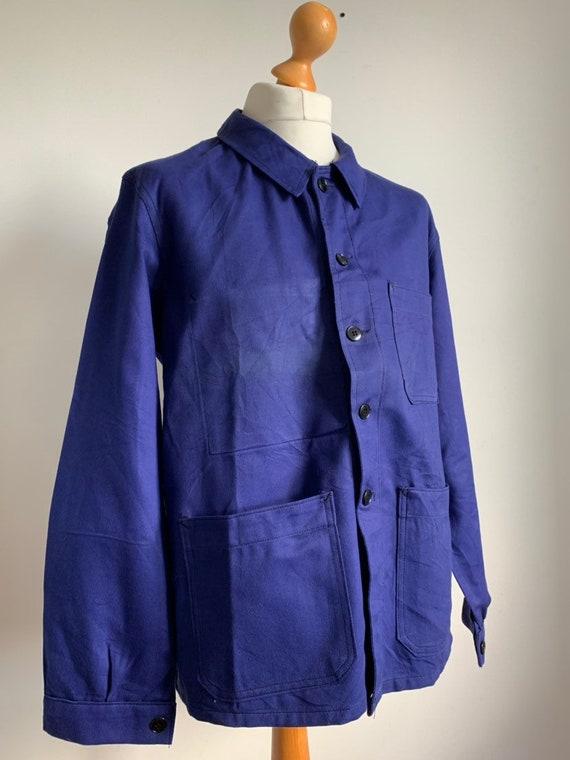 French Blue Workwear, Size L, Vintage Work Coat, J