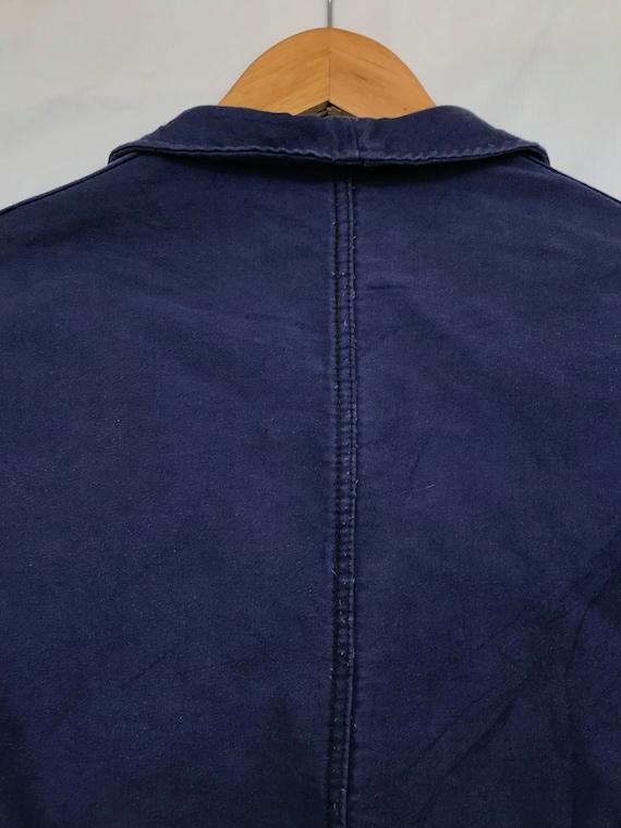 Size M, French Moleskin Workwear Jacket, Vintage … - image 4
