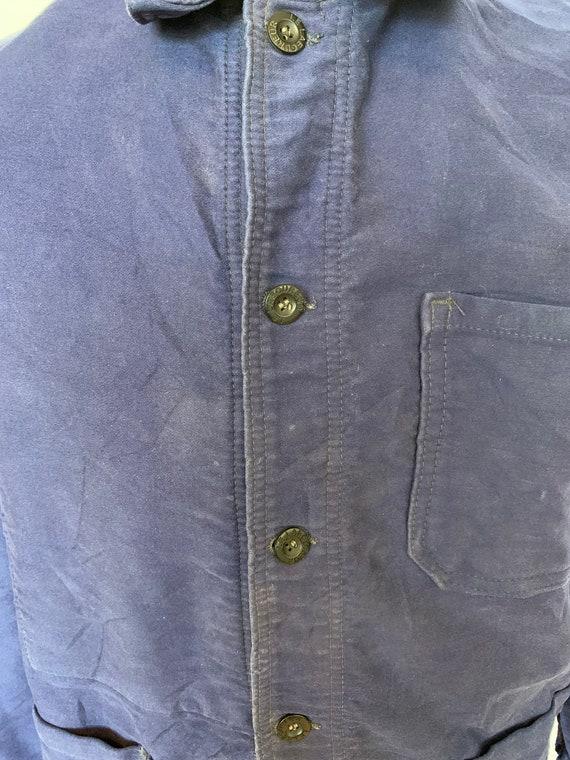 French Moleskin Workwear Jacket, Size M, Vintage … - image 6
