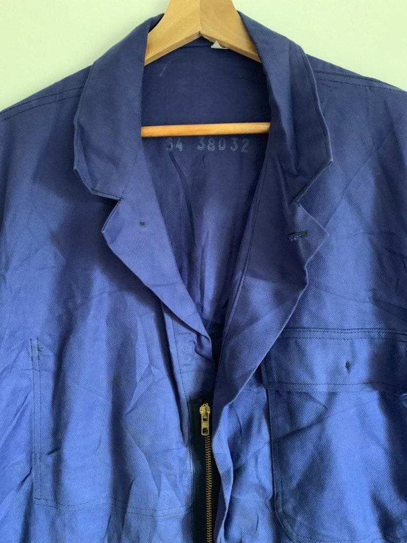 Overalls French Vintage Jumpsuit Size M BS14 Blue Boilersuit
