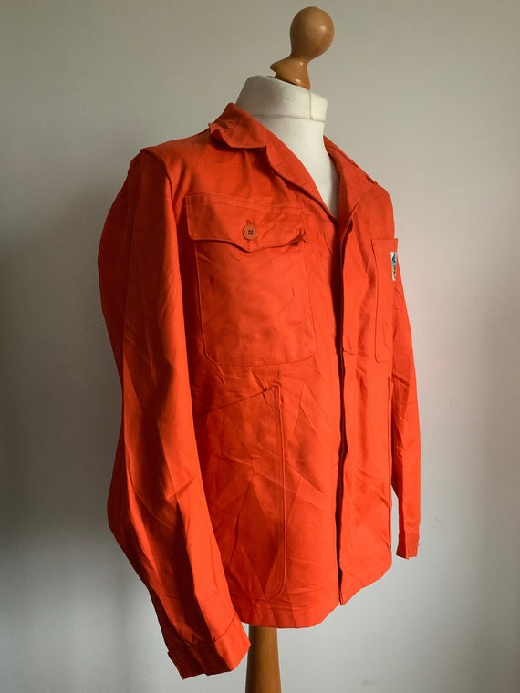 French Workwear, Size L, Vintage Orange Chore-Coat