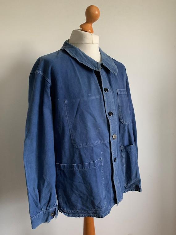 Stunning French Workwear, Size L, Vintage Chore C… - image 3