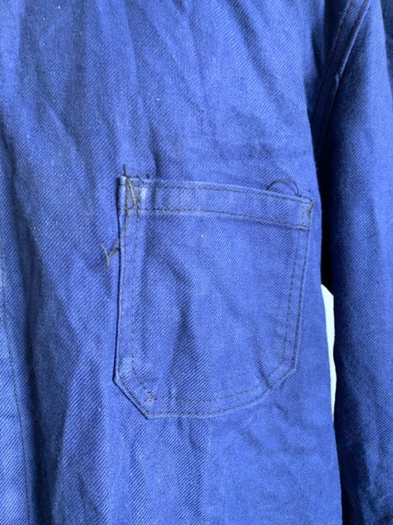 French Workwear Jacket, Size L, Vintage 1960's Ch… - image 7