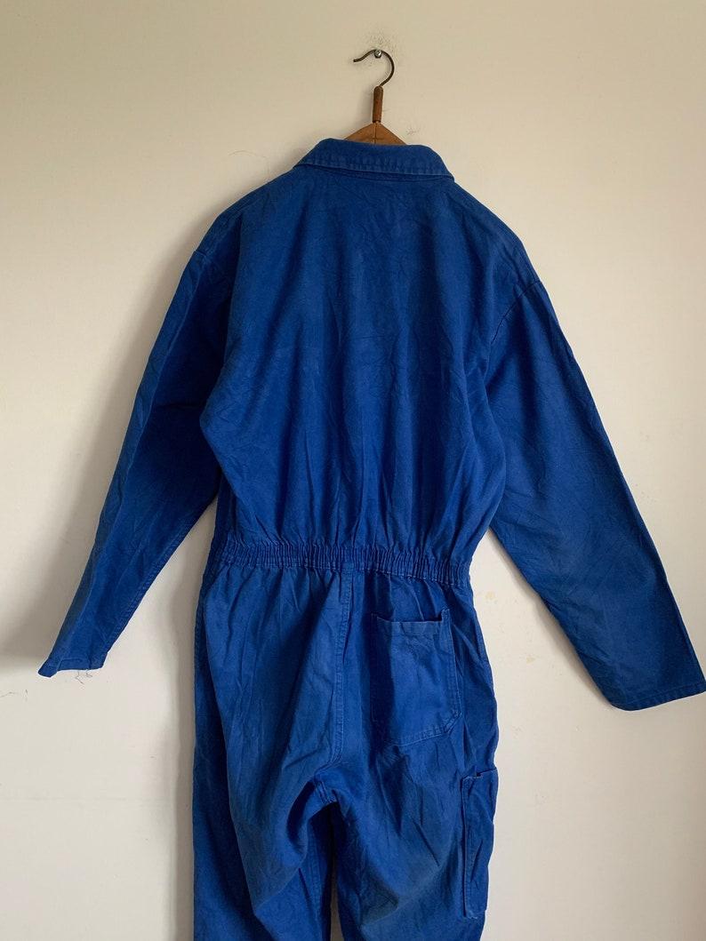 French Vintage Jumpsuit Blue Boilersuit Size S Overalls PC18