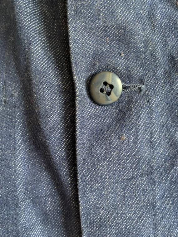 French Workwear, Size L, Vintage Chore Coat, J30 - image 6