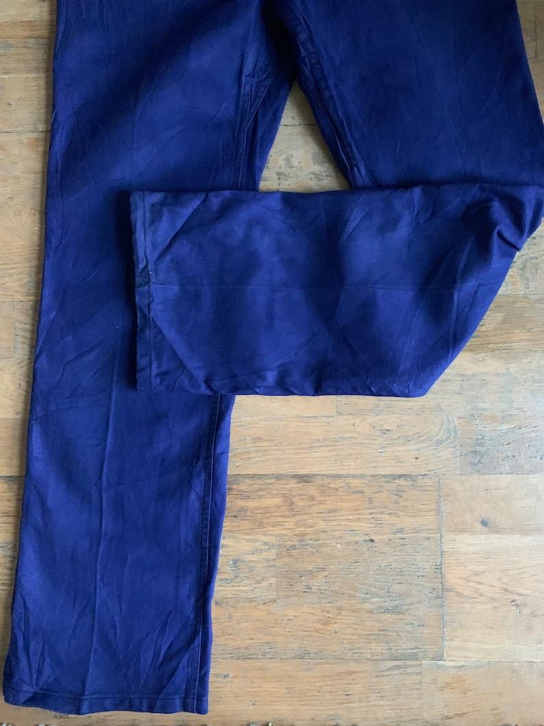 Size W34 Vintage French Work-Wear Trousers Bleu de Travail Pants LK17