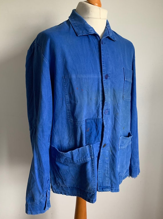 French Vintage Patched Workers Jacket, Size M, Cho