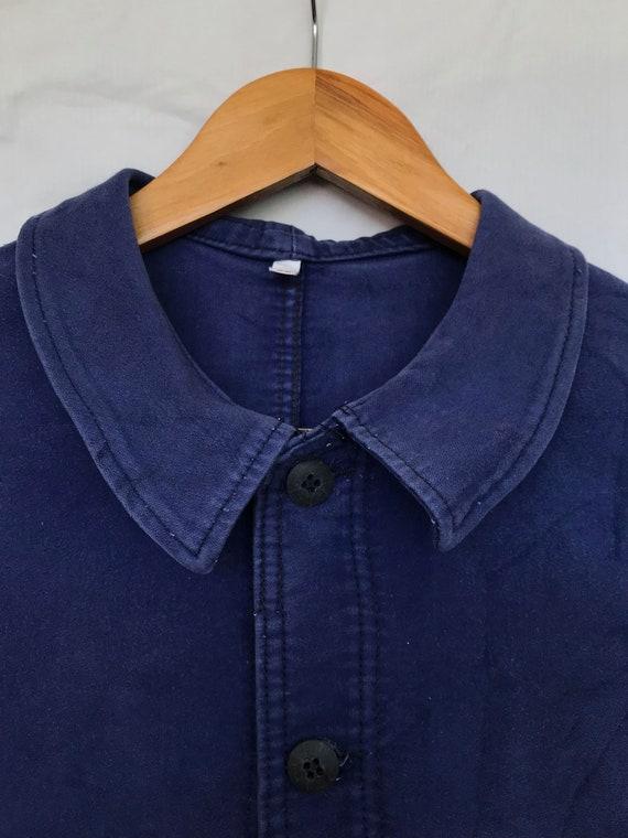 Size M, French Moleskin Workwear Jacket, Vintage … - image 3