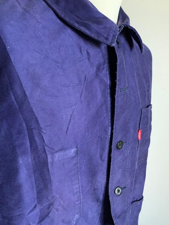 French Workwear, Size L, Vintage 1970's Chore Coa… - image 7