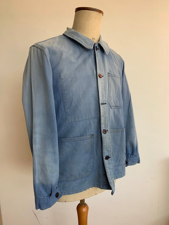French Workwear Jacket, Size M, Vintage Chore-Coat
