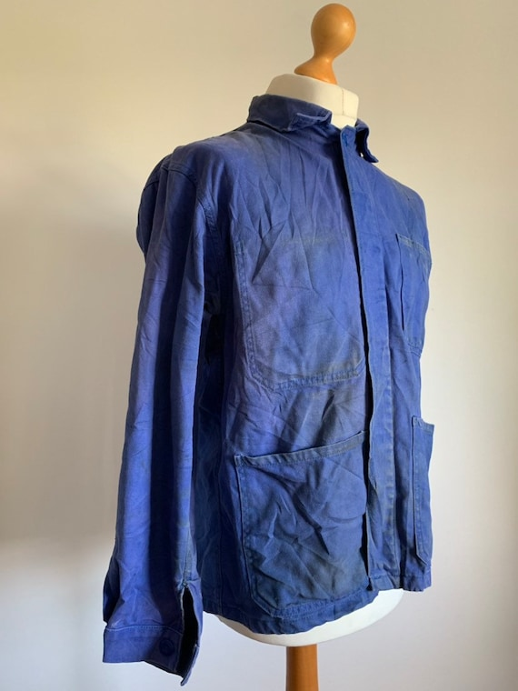 French 1960's Workwear Jacket, Size M, Vintage Cho