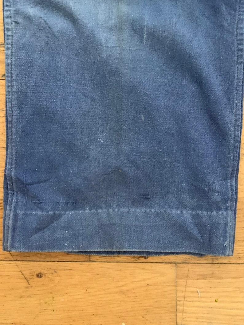 T114 Vintage French Trouser Bleu de Travail Pants Size W36 L26