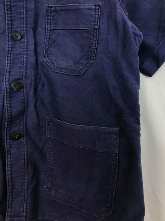 Size M, French Moleskin Workwear Jacket, Vintage … - image 6