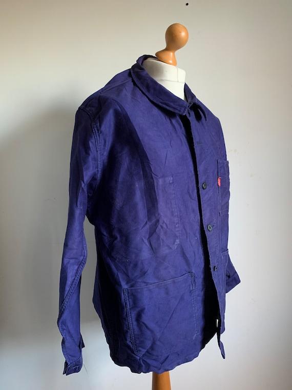French Workwear, Size L, Vintage 1970's Chore Coa… - image 2