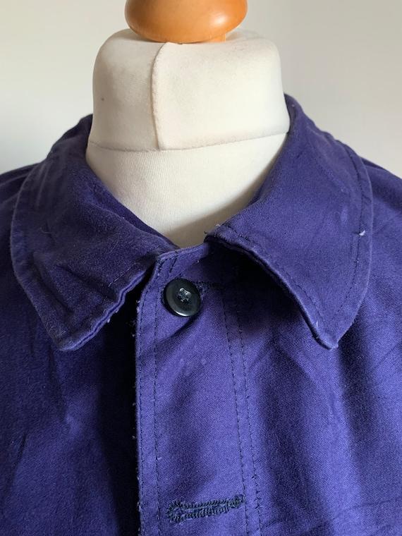 French Workwear, Size L, Vintage 1970's Chore Coa… - image 1