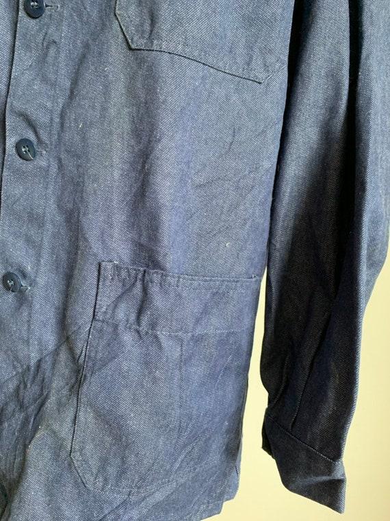 French Workwear, Size L, Vintage Chore Coat, J30 - image 7