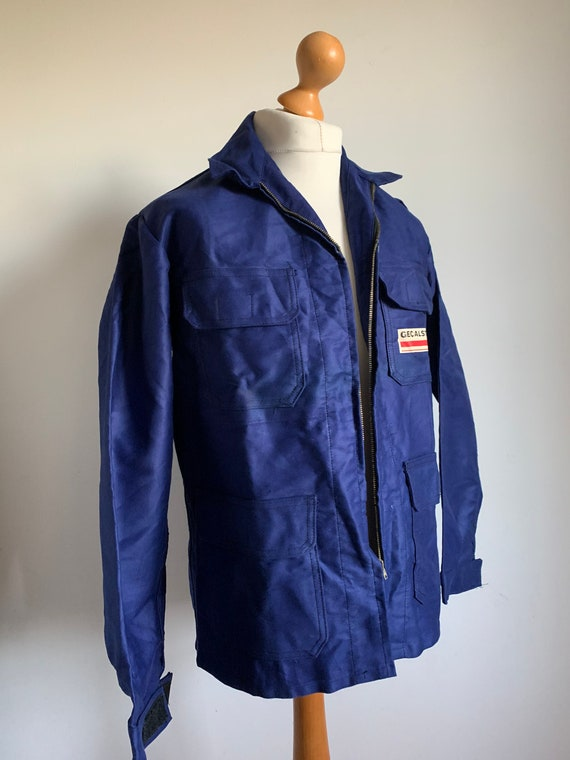 1970's French Workwear, Size L, Vintage Blue Chore