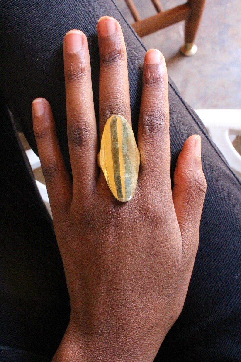 Brass ring-African brass ring-African jewelry-Statement Ring-Adjustable  ring-Gold ring-African ring-Ethnic ring-Tribal ring-Maasai jewelry