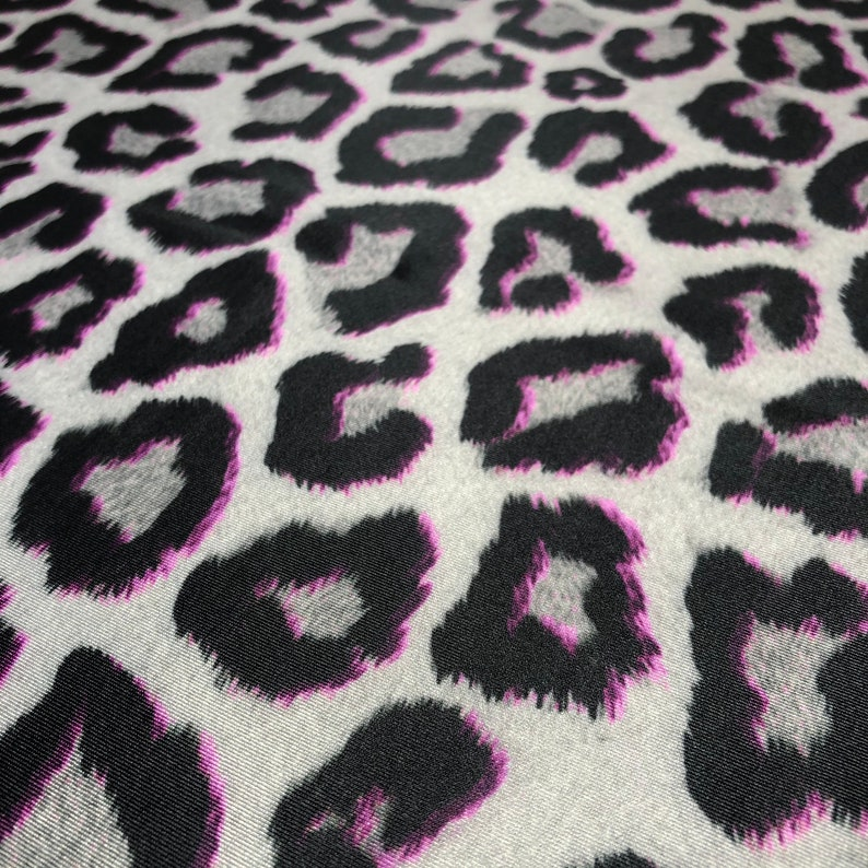 Perfect for clothing Job lot of Bespoke Grey  Pink Leopard Print 4 way stretch Eco Lycra pieces summer outfits and festivals.