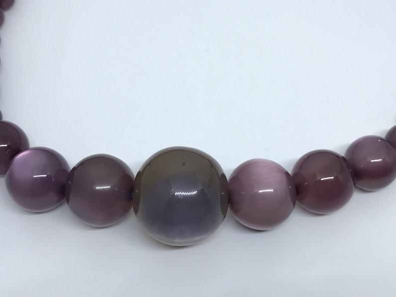 Vintage moon glow lucite necklace Purple