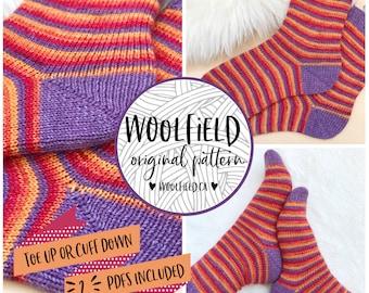 KNITTING PATTERN: Choose Your Own Sockventure - Vanilla Sock, Beginner Sock Pattern, Hand Knit Socks, Easy Socks, Unisex, Toe Up, Cuff Down
