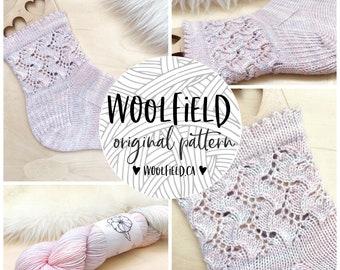 KNITTING PATTERN: Fairy Dust Socks - Lace Socks, Ruffle Socks, Hand Knit Socks, Easy Socks, Unisex, Custom Socks
