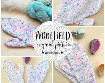 SIMPLE SPECKLED MITTENS - Women/Men/Unisex Knitting Pattern, Beginner Mitten Pattern, Dk Mitten, Speckled Yarn, Speckled Mitten