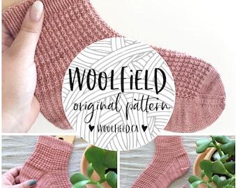 KNITTING PATTERN: Terracotta Socks - Hand Knit Socks, Sock Pattern, Knit Socks, Beginner Socks, Textured Sock, Unisex