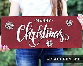Merry Christmas sign wood, Christmas Rustic Decor, Christmas Sign decorations, Wood Sign, Christmas Decorations, Family Christmas sign