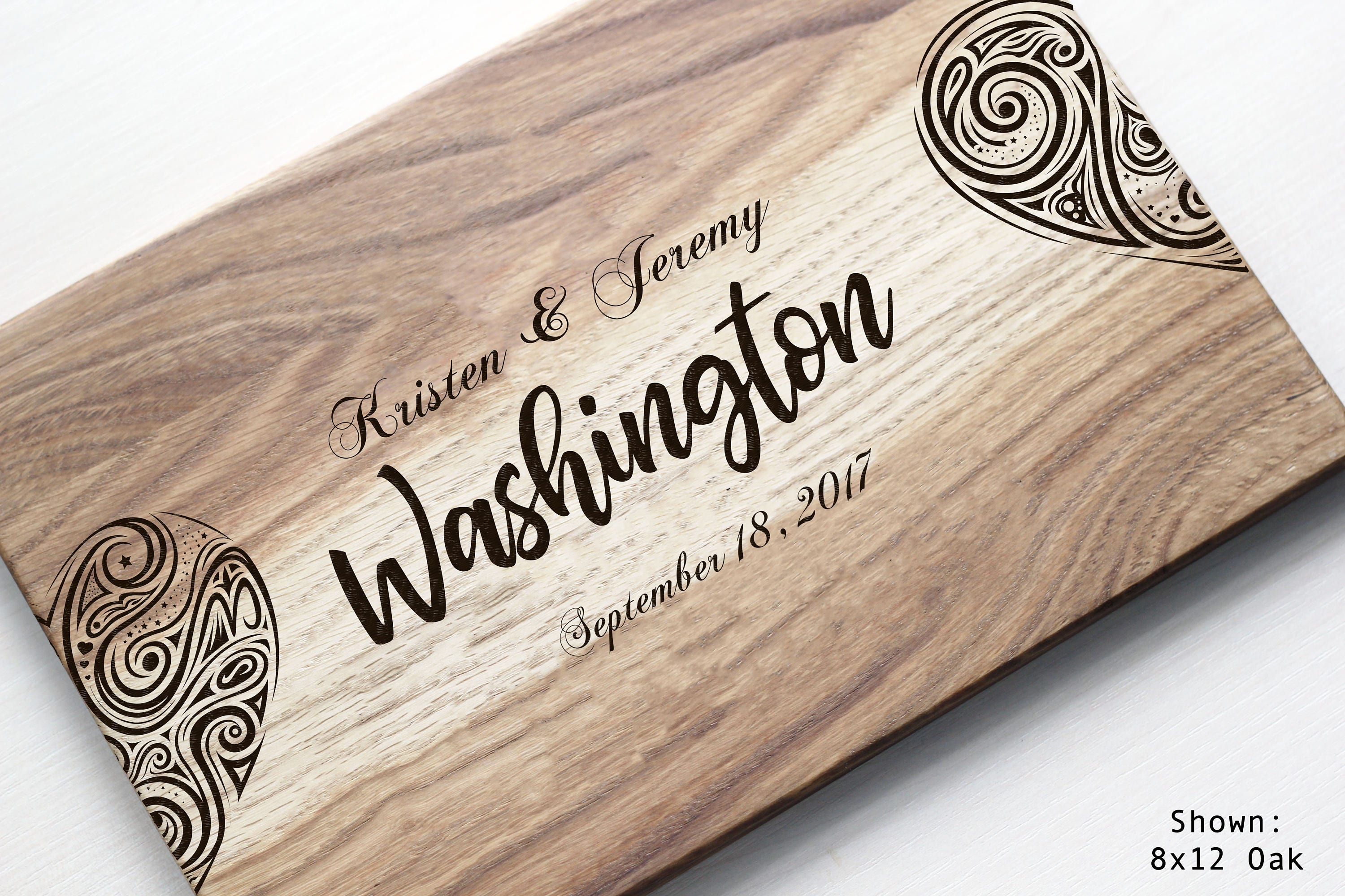 Monogram Wedding Gift Ideas: Personalized Cutting Board Custom Wedding Gift Ideas
