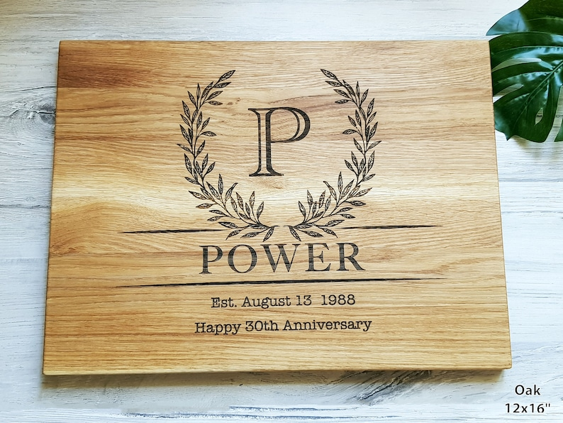 Engraved Cutting Board Anniversary Housewarming Gift for a Couple Anniversary gift for Parents Personalized Cutting Board Wedding gift