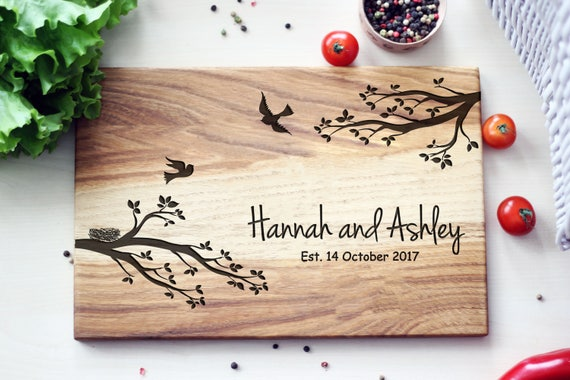 Personalized Cutting Board Personalized Wedding Gift Etsy