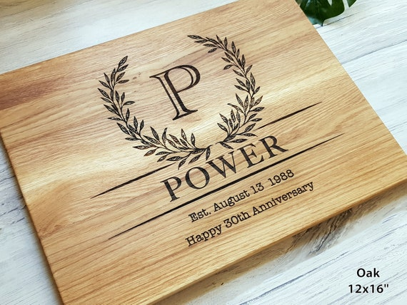 Housewarming Gift Personalized cutting board Family Name Engraved Cutting Board Anniversary Gift Wedding Gift Kitchen Decor