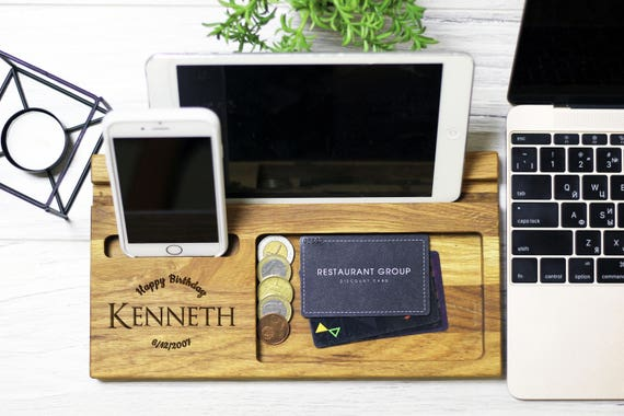 Birthday gifts for him, Gift from Wife, Desk Organizer Wood, Personalized  Gift for Him, Husband Gift, Mens Gift, Boyfriend Christmas Gift