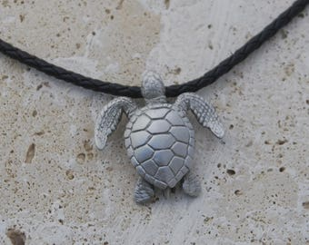 Pewter Sea  Turtle Necklace