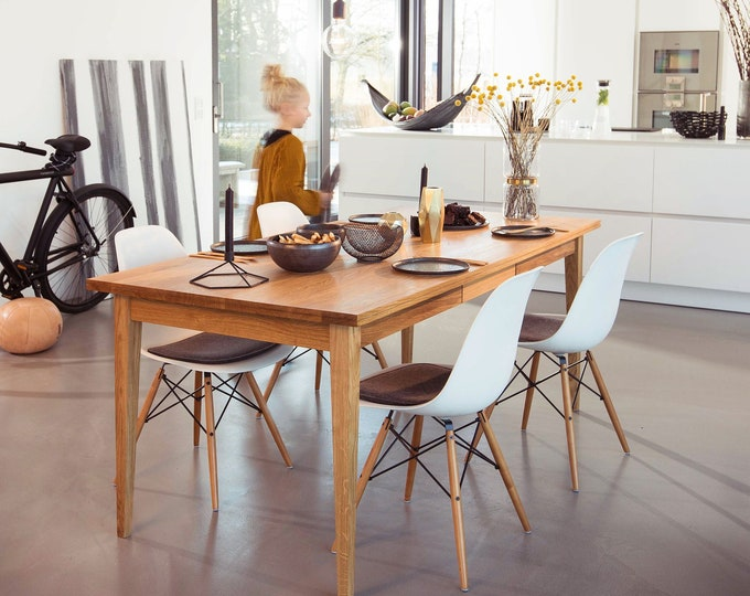 dining table made of solid oak wood table danish design REKORD furniture